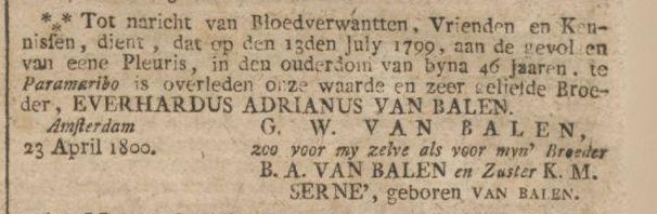 Amsterdamse Courant, 26-04-1800