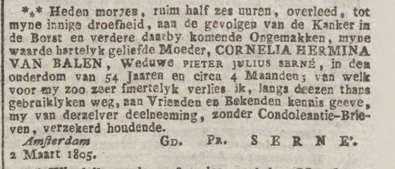 Amsterdamse Courant,  05-03-1805