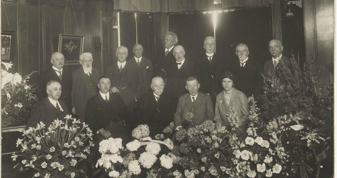 Receptie op 17 mei 1931 ter gelegenheid van het 75-jarig bestaan van Sociëteit 'Vereeniging' (1856-1931)