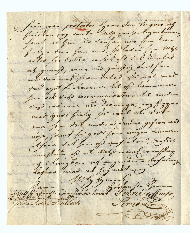 Brief van Pieter Julius Serné aan Petter Claesson (1780) p. 2